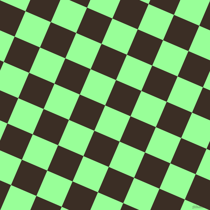 67/157 degree angle diagonal checkered chequered squares checker pattern checkers background, 91 pixel square size, , Mint Green and Sambuca checkers chequered checkered squares seamless tileable