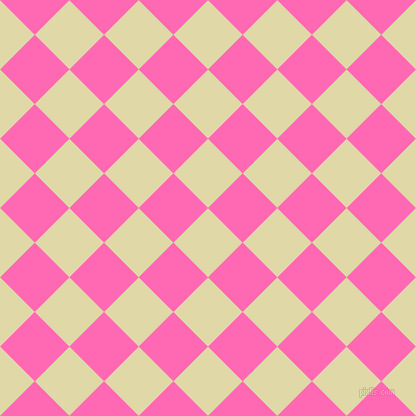 45/135 degree angle diagonal checkered chequered squares checker pattern checkers background, 49 pixel square size, , Mint Julep and Hot Pink checkers chequered checkered squares seamless tileable