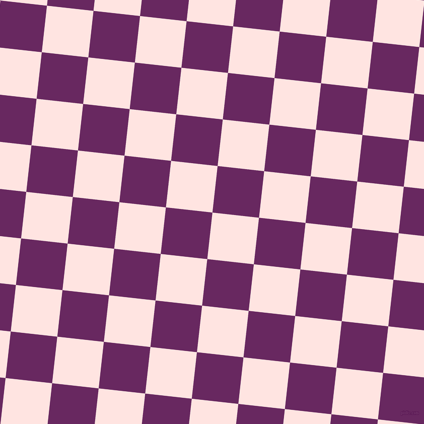 84/174 degree angle diagonal checkered chequered squares checker pattern checkers background, 93 pixel square size, , Misty Rose and Palatinate Purple checkers chequered checkered squares seamless tileable