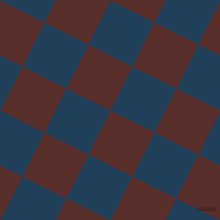 63/153 degree angle diagonal checkered chequered squares checker pattern checkers background, 99 pixel squares size, Moccaccino and Regal Blue checkers chequered checkered squares seamless tileable