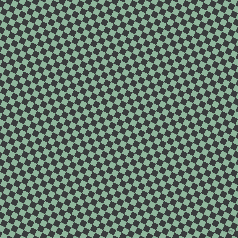 63/153 degree angle diagonal checkered chequered squares checker pattern checkers background, 20 pixel square size, , Montana and Summer Green checkers chequered checkered squares seamless tileable