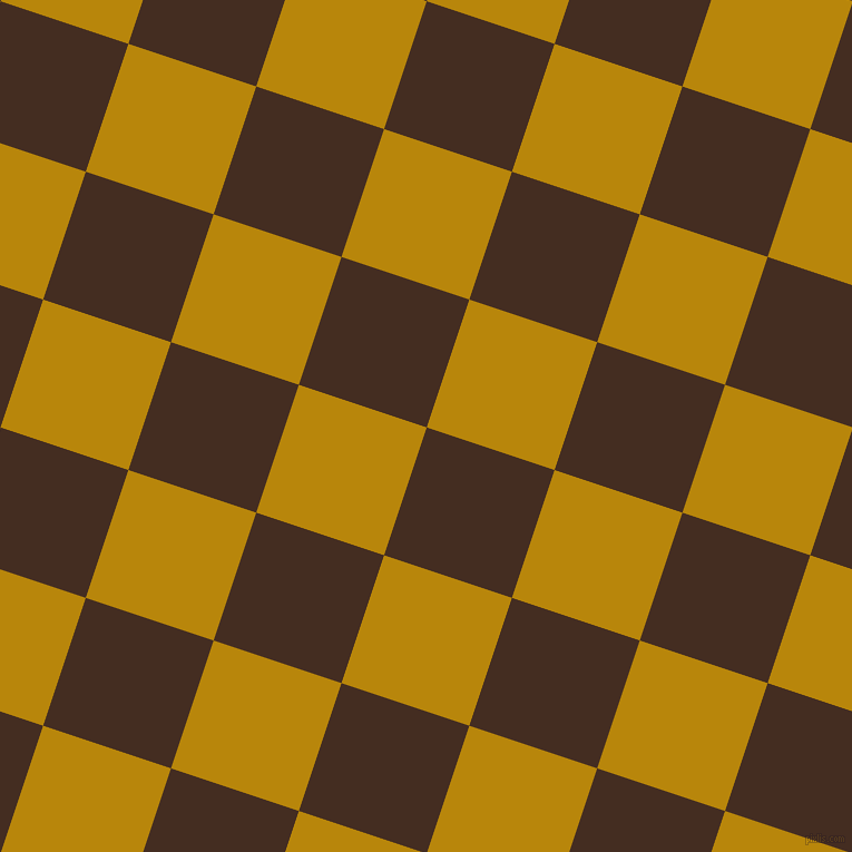 72/162 degree angle diagonal checkered chequered squares checker pattern checkers background, 121 pixel square size, , Morocco Brown and Dark Goldenrod checkers chequered checkered squares seamless tileable