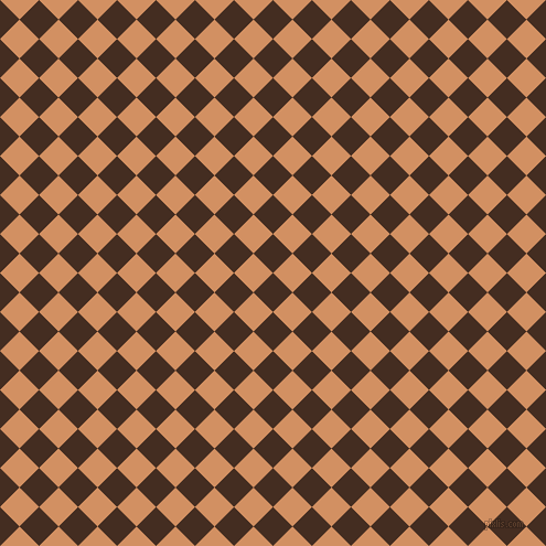 45/135 degree angle diagonal checkered chequered squares checker pattern checkers background, 25 pixel square size, , Morocco Brown and Whiskey checkers chequered checkered squares seamless tileable