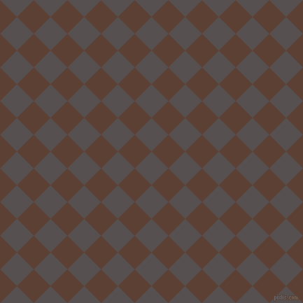 45/135 degree angle diagonal checkered chequered squares checker pattern checkers background, 34 pixel squares size, , Mortar and Very Dark Brown checkers chequered checkered squares seamless tileable