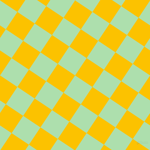 56/146 degree angle diagonal checkered chequered squares checker pattern checkers background, 67 pixel squares size, , Moss Green and Golden Poppy checkers chequered checkered squares seamless tileable