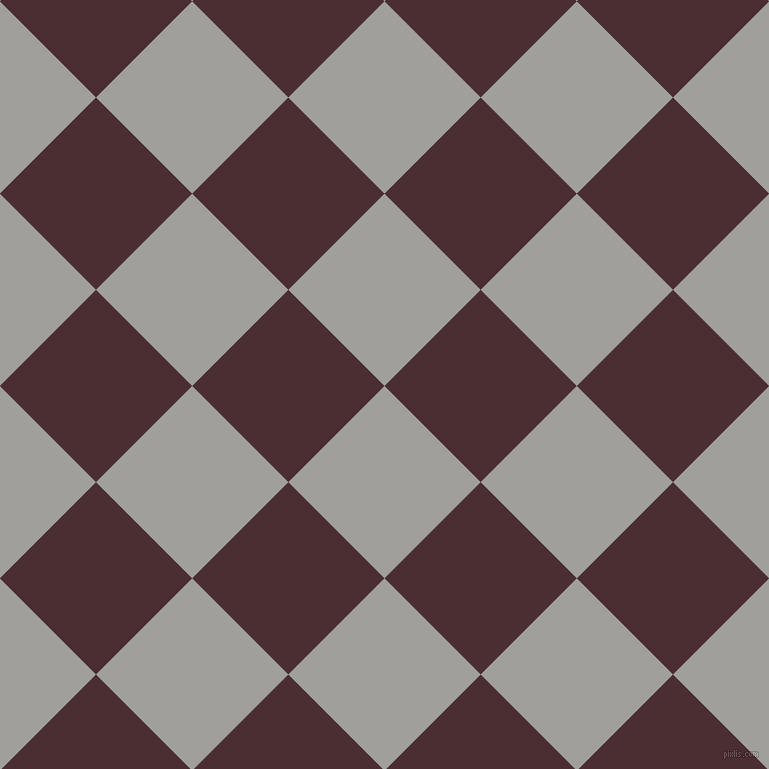 45/135 degree angle diagonal checkered chequered squares checker pattern checkers background, 136 pixel squares size, , Mountain Mist and Cab Sav checkers chequered checkered squares seamless tileable
