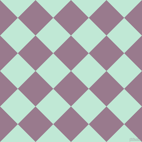 45/135 degree angle diagonal checkered chequered squares checker pattern checkers background, 80 pixel squares size, Mountbatten Pink and Aero Blue checkers chequered checkered squares seamless tileable