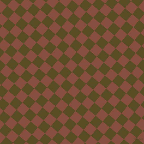 50/140 degree angle diagonal checkered chequered squares checker pattern checkers background, 35 pixel squares size, Mule Fawn and Bronze Olive checkers chequered checkered squares seamless tileable