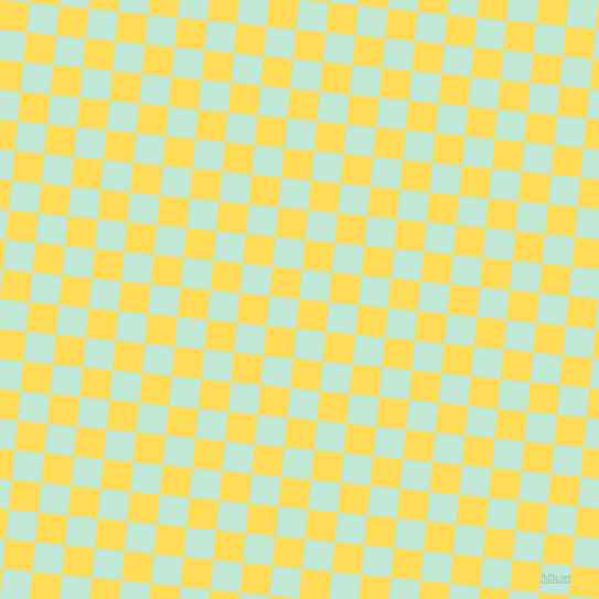 84/174 degree angle diagonal checkered chequered squares checker pattern checkers background, 27 pixel squares size, , Mustard and Aero Blue checkers chequered checkered squares seamless tileable