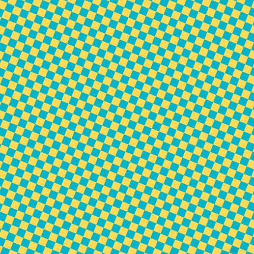 68/158 degree angle diagonal checkered chequered squares checker pattern checkers background, 16 pixel squares size, , Mustard and Iris Blue checkers chequered checkered squares seamless tileable