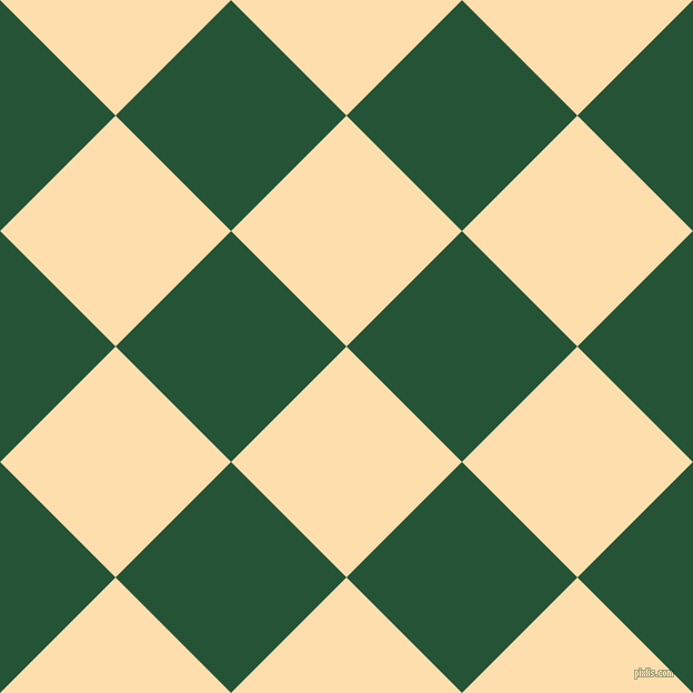 45/135 degree angle diagonal checkered chequered squares checker pattern checkers background, 147 pixel square size, , Navajo White and Kaitoke Green checkers chequered checkered squares seamless tileable
