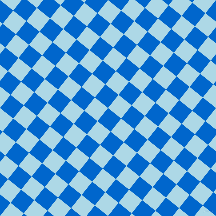 51/141 degree angle diagonal checkered chequered squares checker pattern checkers background, 58 pixel square size, , Navy Blue and Light Blue checkers chequered checkered squares seamless tileable