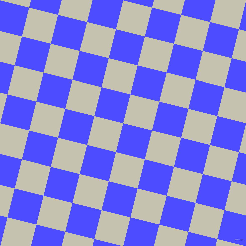 76/166 degree angle diagonal checkered chequered squares checker pattern checkers background, 119 pixel square size, Neon Blue and Kangaroo checkers chequered checkered squares seamless tileable