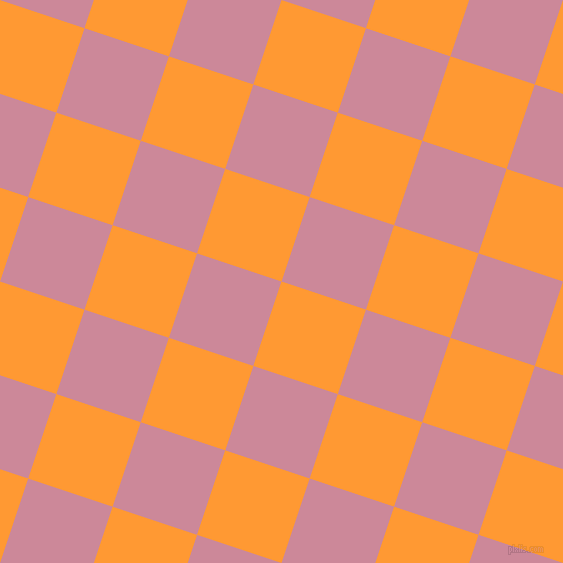 72/162 degree angle diagonal checkered chequered squares checker pattern checkers background, 89 pixel squares size, , Neon Carrot and Puce checkers chequered checkered squares seamless tileable