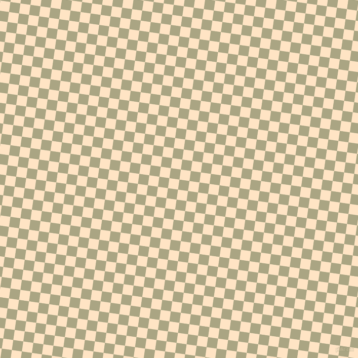 82/172 degree angle diagonal checkered chequered squares checker pattern checkers background, 20 pixel squares size, , Neutral Green and Bisque checkers chequered checkered squares seamless tileable