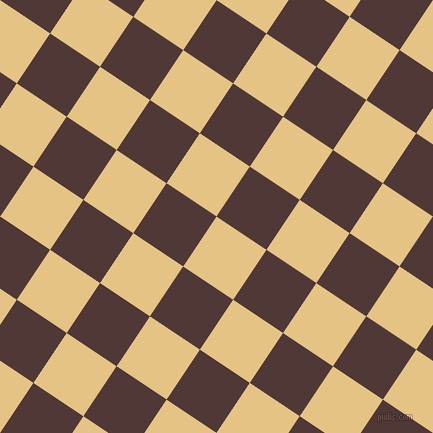 56/146 degree angle diagonal checkered chequered squares checker pattern checkers background, 60 pixel square size, , New Orleans and Cocoa Bean checkers chequered checkered squares seamless tileable