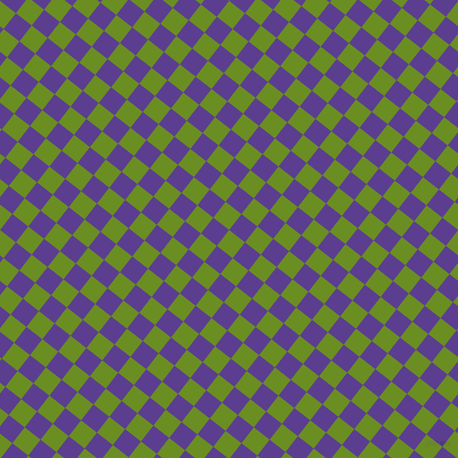 52/142 degree angle diagonal checkered chequered squares checker pattern checkers background, 29 pixel squares size, , Olive Drab and Daisy Bush checkers chequered checkered squares seamless tileable