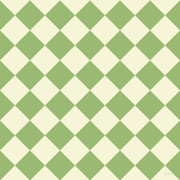 45/135 degree angle diagonal checkered chequered squares checker pattern checkers background, 73 pixel square size, , Olivine and Hint Of Yellow checkers chequered checkered squares seamless tileable