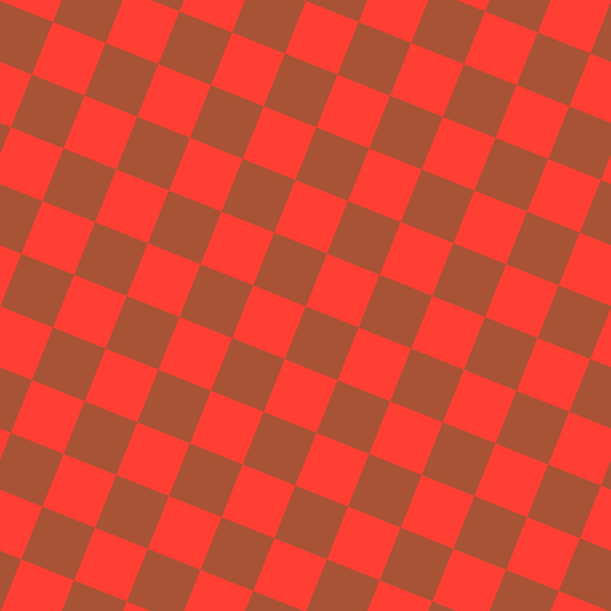 68/158 degree angle diagonal checkered chequered squares checker pattern checkers background, 82 pixel square size, Orange Roughy and Red Orange checkers chequered checkered squares seamless tileable