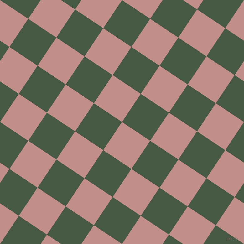 56/146 degree angle diagonal checkered chequered squares checker pattern checkers background, 108 pixel squares size, Oriental Pink and Grey-Asparagus checkers chequered checkered squares seamless tileable