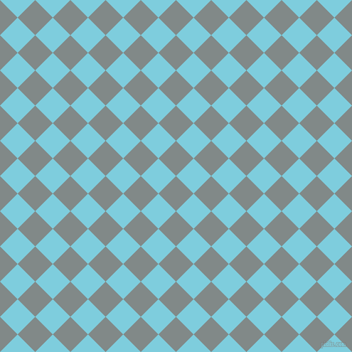 45/135 degree angle diagonal checkered chequered squares checker pattern checkers background, 35 pixel squares size, , Oslo Grey and Spray checkers chequered checkered squares seamless tileable