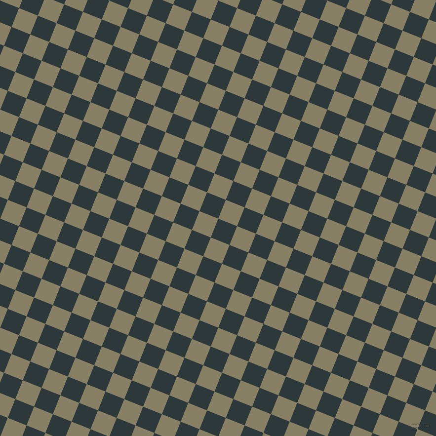 68/158 degree angle diagonal checkered chequered squares checker pattern checkers background, 41 pixel squares size, , Outer Space and Olive Haze checkers chequered checkered squares seamless tileable