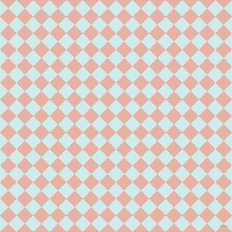 45/135 degree angle diagonal checkered chequered squares checker pattern checkers background, 40 pixel squares size, , Oyster Bay and Shilo checkers chequered checkered squares seamless tileable