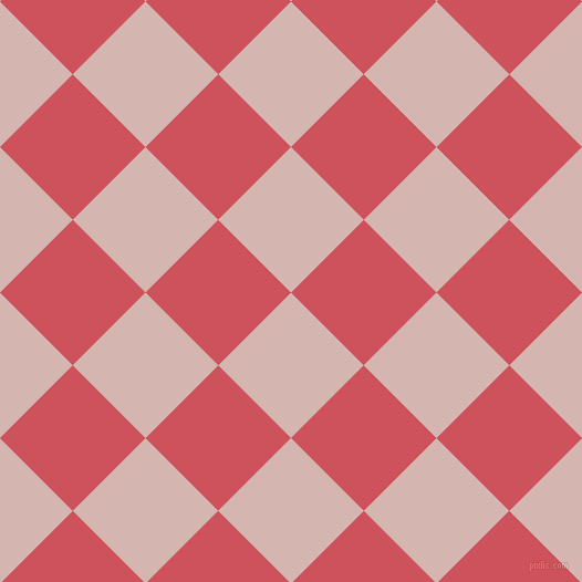 45/135 degree angle diagonal checkered chequered squares checker pattern checkers background, 93 pixel squares size, , Oyster Pink and Mandy checkers chequered checkered squares seamless tileable