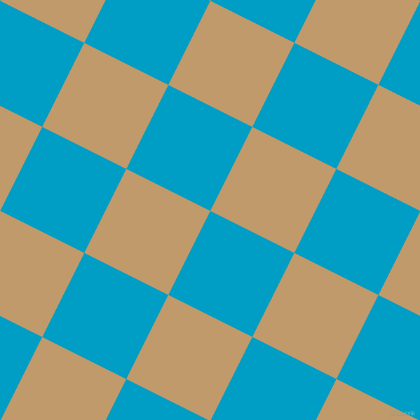 63/153 degree angle diagonal checkered chequered squares checker pattern checkers background, 134 pixel squares size, , Pacific Blue and Fallow checkers chequered checkered squares seamless tileable