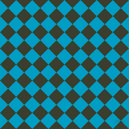 45/135 degree angle diagonal checkered chequered squares checker pattern checkers background, 40 pixel square size, , Pacific Blue and Log Cabin checkers chequered checkered squares seamless tileable