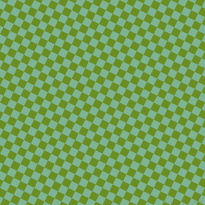 63/153 degree angle diagonal checkered chequered squares checker pattern checkers background, 31 pixel square size, , Padua and Olive Drab checkers chequered checkered squares seamless tileable