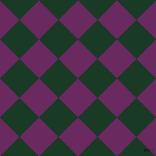 45/135 degree angle diagonal checkered chequered squares checker pattern checkers background, 96 pixel squares size, , Palatinate Purple and Deep Fir checkers chequered checkered squares seamless tileable