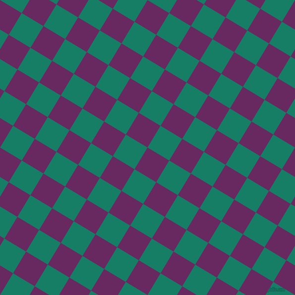 59/149 degree angle diagonal checkered chequered squares checker pattern checkers background, 51 pixel square size, , Palatinate Purple and Deep Sea checkers chequered checkered squares seamless tileable
