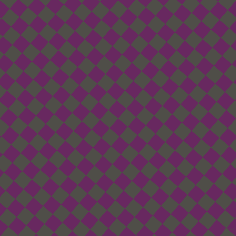 49/139 degree angle diagonal checkered chequered squares checker pattern checkers background, 44 pixel squares size, , Palatinate Purple and Merlin checkers chequered checkered squares seamless tileable