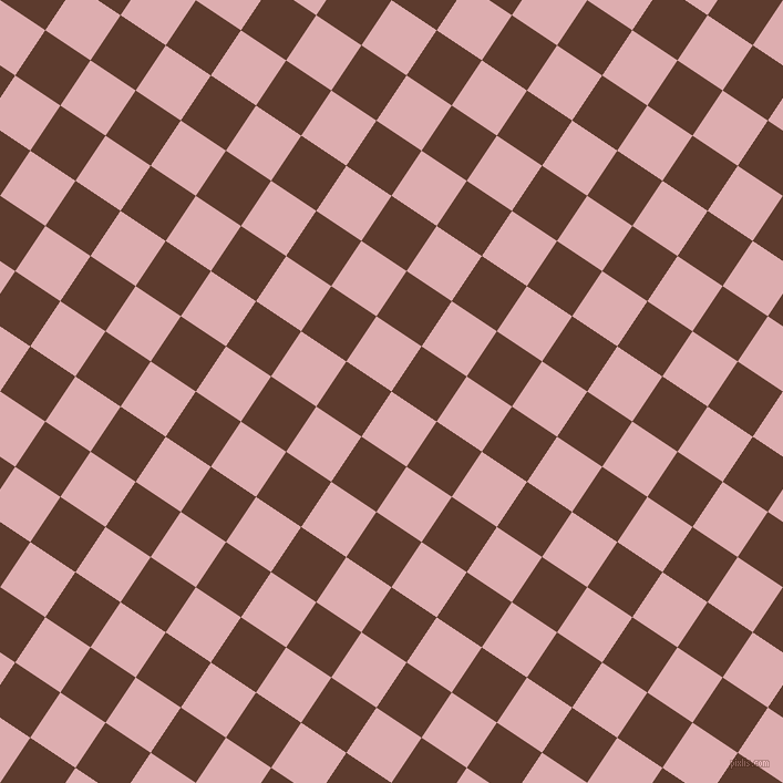 56/146 degree angle diagonal checkered chequered squares checker pattern checkers background, 49 pixel squares size, , Pale Chestnut and Cioccolato checkers chequered checkered squares seamless tileable