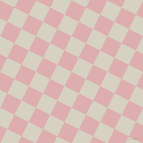 63/153 degree angle diagonal checkered chequered squares checker pattern checkers background, 52 pixel square size, , Pale Chestnut and Ecru White checkers chequered checkered squares seamless tileable