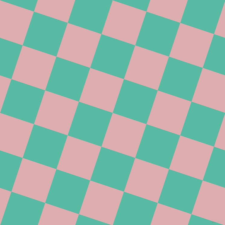 72/162 degree angle diagonal checkered chequered squares checker pattern checkers background, 118 pixel square size, , Pale Chestnut and Puerto Rico checkers chequered checkered squares seamless tileable