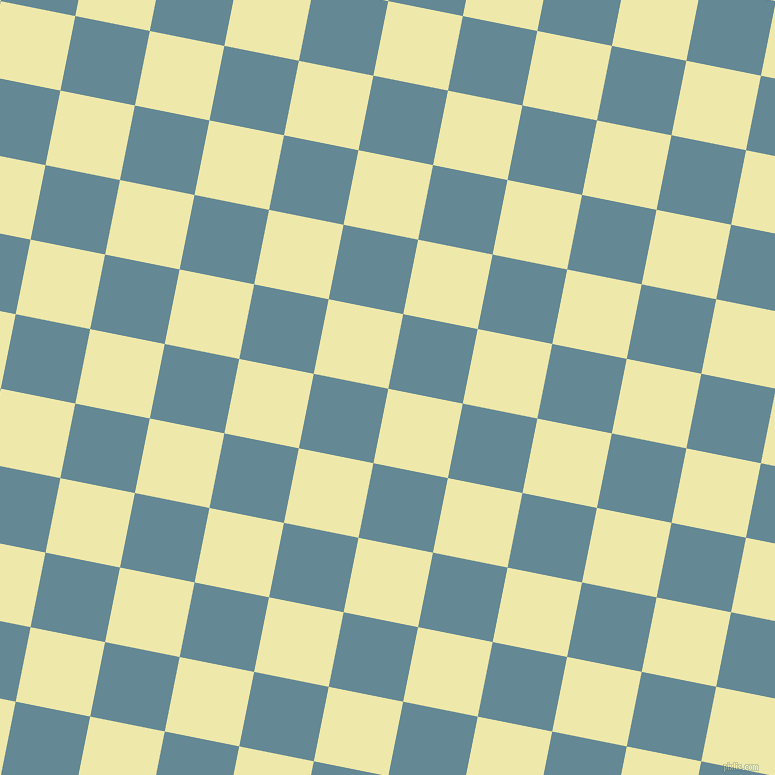 79/169 degree angle diagonal checkered chequered squares checker pattern checkers background, 76 pixel square size, , Pale Goldenrod and Horizon checkers chequered checkered squares seamless tileable