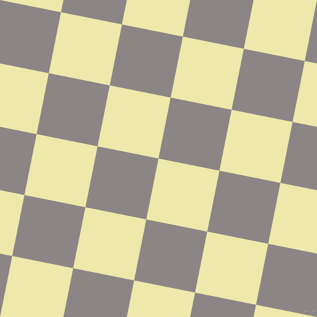 79/169 degree angle diagonal checkered chequered squares checker pattern checkers background, 198 pixel squares size, Pale Goldenrod and Suva Grey checkers chequered checkered squares seamless tileable