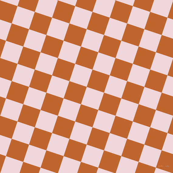 72/162 degree angle diagonal checkered chequered squares checker pattern checkers background, 60 pixel squares size, Pale Rose and Christine checkers chequered checkered squares seamless tileable