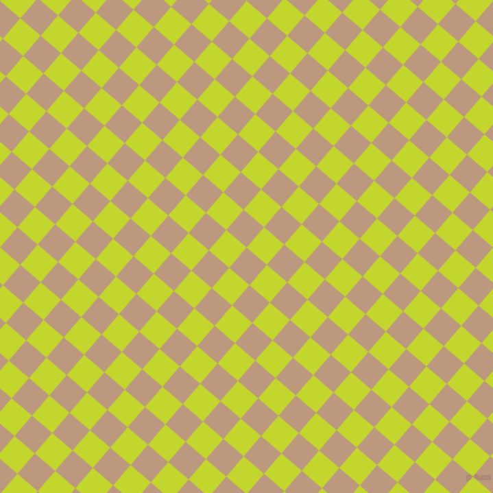 49/139 degree angle diagonal checkered chequered squares checker pattern checkers background, 39 pixel square size, , Pale Taupe and Fuego checkers chequered checkered squares seamless tileable
