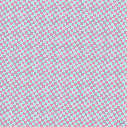 79/169 degree angle diagonal checkered chequered squares checker pattern checkers background, 9 pixel squares size, , Pale Turquoise and Kobi checkers chequered checkered squares seamless tileable