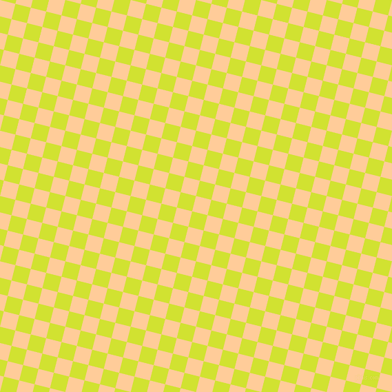 76/166 degree angle diagonal checkered chequered squares checker pattern checkers background, 23 pixel square size, , Peach-Orange and Pear checkers chequered checkered squares seamless tileable