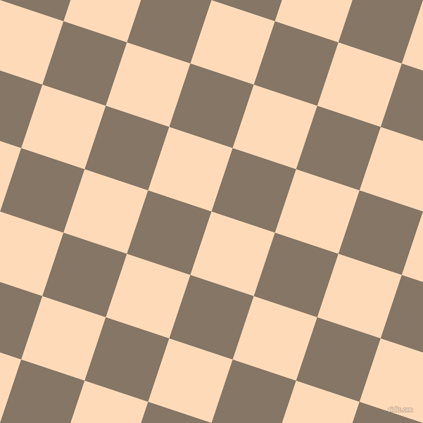 72/162 degree angle diagonal checkered chequered squares checker pattern checkers background, 95 pixel squares size, , Peach Puff and Sand Dune checkers chequered checkered squares seamless tileable