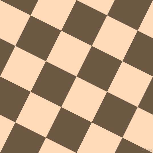 63/153 degree angle diagonal checkered chequered squares checker pattern checkers background, 120 pixel square size, , Peach Puff and Tobacco Brown checkers chequered checkered squares seamless tileable