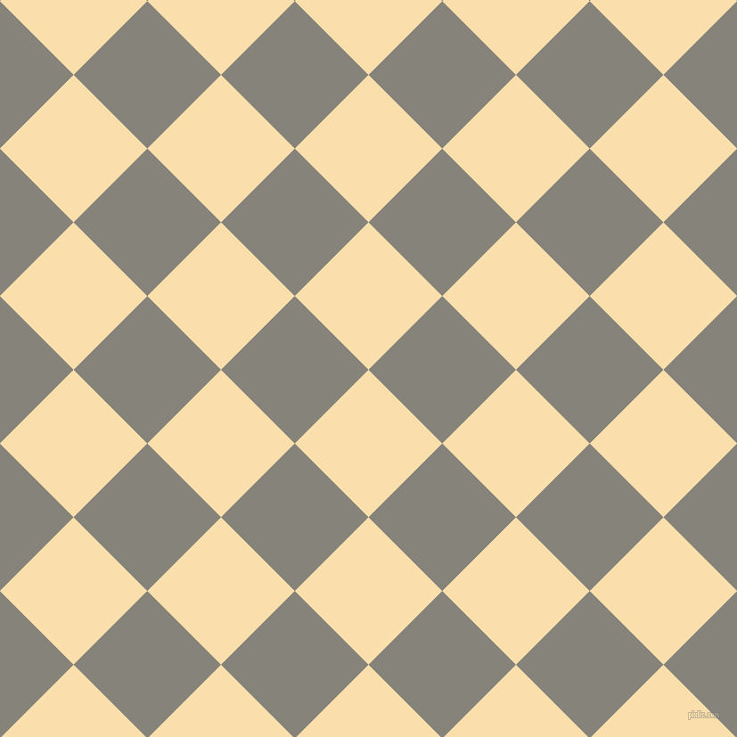 45/135 degree angle diagonal checkered chequered squares checker pattern checkers background, 117 pixel square size, , Peach-Yellow and Friar Grey checkers chequered checkered squares seamless tileable