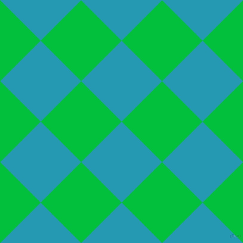 45/135 degree angle diagonal checkered chequered squares checker pattern checkers background, 192 pixel square size, , Pelorous and Dark Pastel Green checkers chequered checkered squares seamless tileable