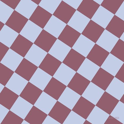 56/146 degree angle diagonal checkered chequered squares checker pattern checkers background, 59 pixel square size, , Periwinkle and Mauve Taupe checkers chequered checkered squares seamless tileable