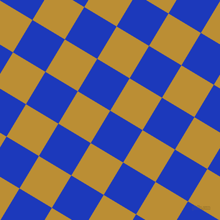 59/149 degree angle diagonal checkered chequered squares checker pattern checkers background, 74 pixel square size, , Persian Blue and Hokey Pokey checkers chequered checkered squares seamless tileable