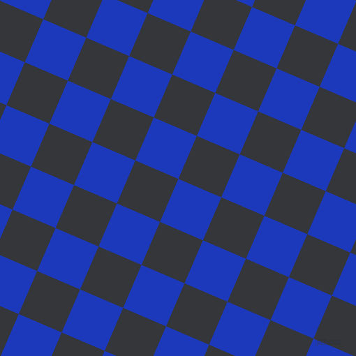 67/157 degree angle diagonal checkered chequered squares checker pattern checkers background, 67 pixel square size, , Persian Blue and Shark checkers chequered checkered squares seamless tileable